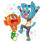 Gumball and Darwin by Eloylie