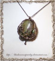 Jasper Pendant by blackcurrantjewelry