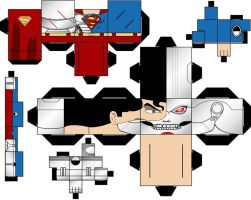 Cubee Craft Cyborg Superman DC Super Heroes by handita2006