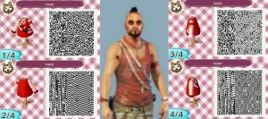 :Animal Crossing New Leaf: Vaas Montenegro design by XxKingKaiVeggixX