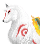 Amaterasu with Fur Practice by MegBeth