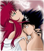 kurama and Hiei 2 XD by ILITIAFOREVER