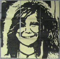 Janis Joplin (on post-its) by Neon55555