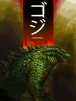 Godzilla by freekishly