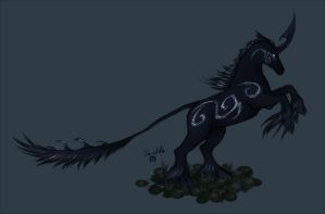 Night Unicorn by Skudde-OCs