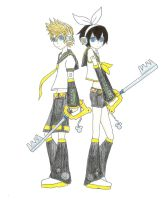 Keyblade Kagamine by KingdomZelaybli