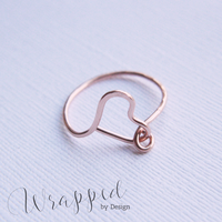 Rose Gold Heart Ring by WrappedbyDesign