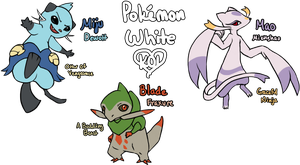 - PKMN White Trio 1 - by ToxicOxygen