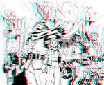 Tellos by Mike Wieringo in 3D Anaglyph by xmancyclops