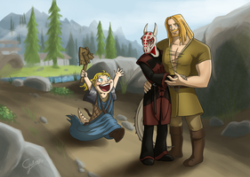 Skyrim Commission by GalooGameLady