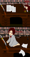 Playing in the Study by Ask-2pChibiAmerica