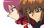 Judai and Nanami Drawing thingy by Omori-P