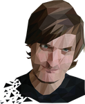 Nick's portrait in polygons by bitter-knitter
