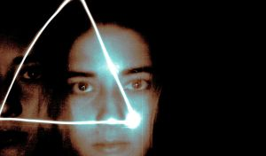 Light painting portrait by Ayzlyn