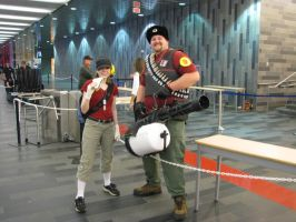 Scout + Heavy Montreal Comic Con 2013 by Spinosaur123