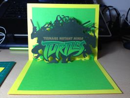 TMNT pop up card by FoxKid1302