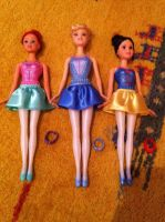 Ariel, Cinderella and Snow White Ballerina Dolls by SweetHea