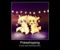 Pokeshipping Poster by XGBlue