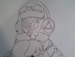 Mighty No. 9 fan art teaser 01 by d13mon-studios
