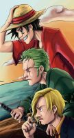 One piece: The Strong Three by cristinademanuel