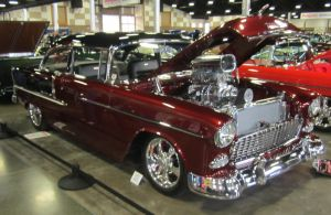 2 tone red 55 Chevy BelAir by zypherion