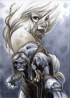 Great Hag Classic Mythology Sketch Card by RichardCox