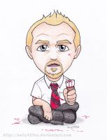 Shaun of the Cornetto by kelly42fox