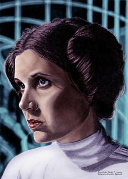 Princess Leia colored by Scott Zambelli by khinson