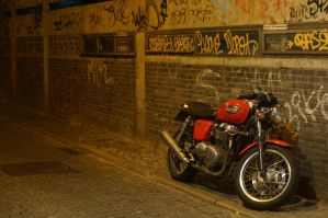 Motorcycle and Graffiti by 13love88