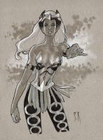 Enchantress Sketch by StephaneRoux