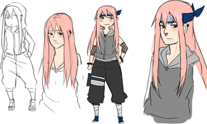 SasuSaku daughter by BayneezOne