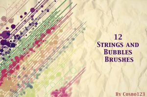 Free 12 Strings And Bubbles Brushes by Designslots