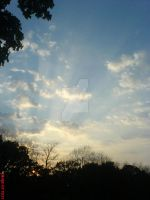 Sun Hits Clouds by The-Justified-Poet