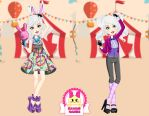 Ever After High Carnival Date Bunny Blanc Dress Up by heglys