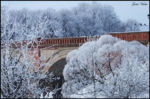 Bridge in Kuldiga - on Winter by gatis-vilaks