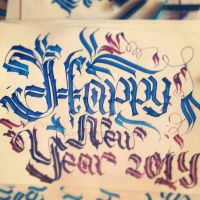 Happy New Year !!! 2014 Ciillk Calligraphy by Milenist