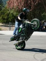 Stunt Riders at Car Show - 4 by RoadTripDog