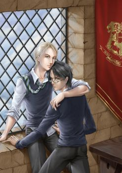HP yaoi fanart by dark-spider