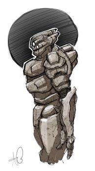 Armour Sketch by shinypants