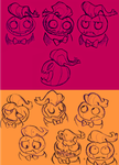 Larry's many faces by The-Elusive-Cat