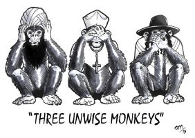 3 Unwise Monkeys by Ziggyman