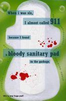 Bloody Pad by PostSecrets