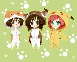 COMMISSION: Kigurumi Party by milaa-chan