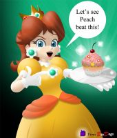 Princess Daisy - Invincible Cupcake by BroDogz