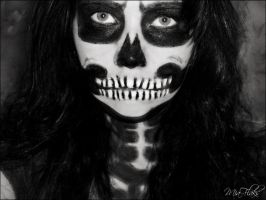 Skeleton Makeup by Gulchachak