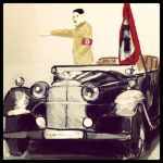 Hitler and his car by Phantomss