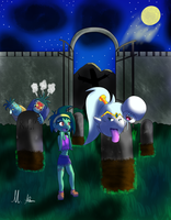 Boo Shantae on the Graveyard by ParagonOfSonamy