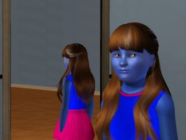 Sims 3 - Denise as Amy Collins turn blue 2 by Magic-Kristina-KW