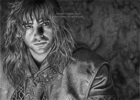 Aidan Turner as Kili by Ilojleen