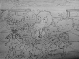 The Rugrats DLB: sketch in progress before final  by artdemaurialashawn21